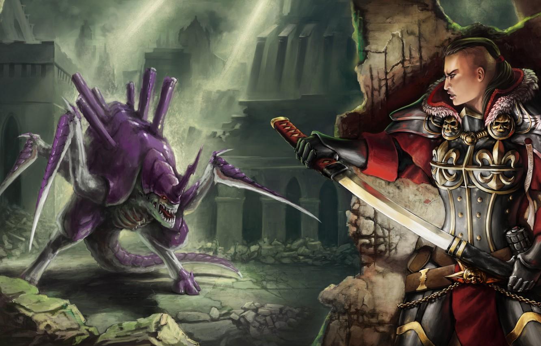 Wallpaper Sword Warhammer 40k Imperium Tyranids Grenade Sisters Of Battle Celarx Images For Desktop Section Igry Download