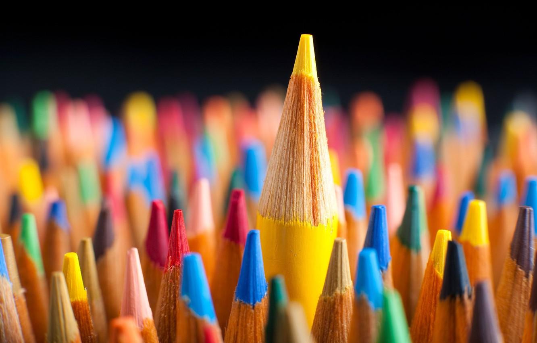 Photo wallpaper macro, background, widescreen, Wallpaper, mood, colored, pencils, wallpaper, pencil, widescreen, background, full screen, HD wallpapers, …