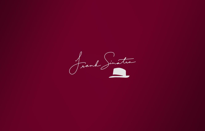 Photo wallpaper minimalism, hat, hat, autograph, Frank Sinatra, signature, Sinatra