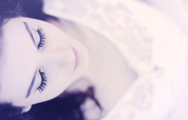 Photo wallpaper eyes, eyelashes, background, black and white, Wallpaper, mood, girl. face