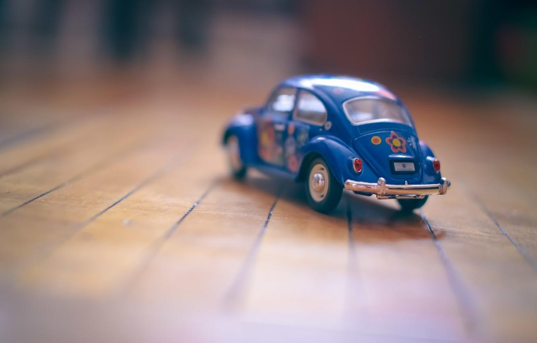 Photo wallpaper machine, auto, toy, car, blue