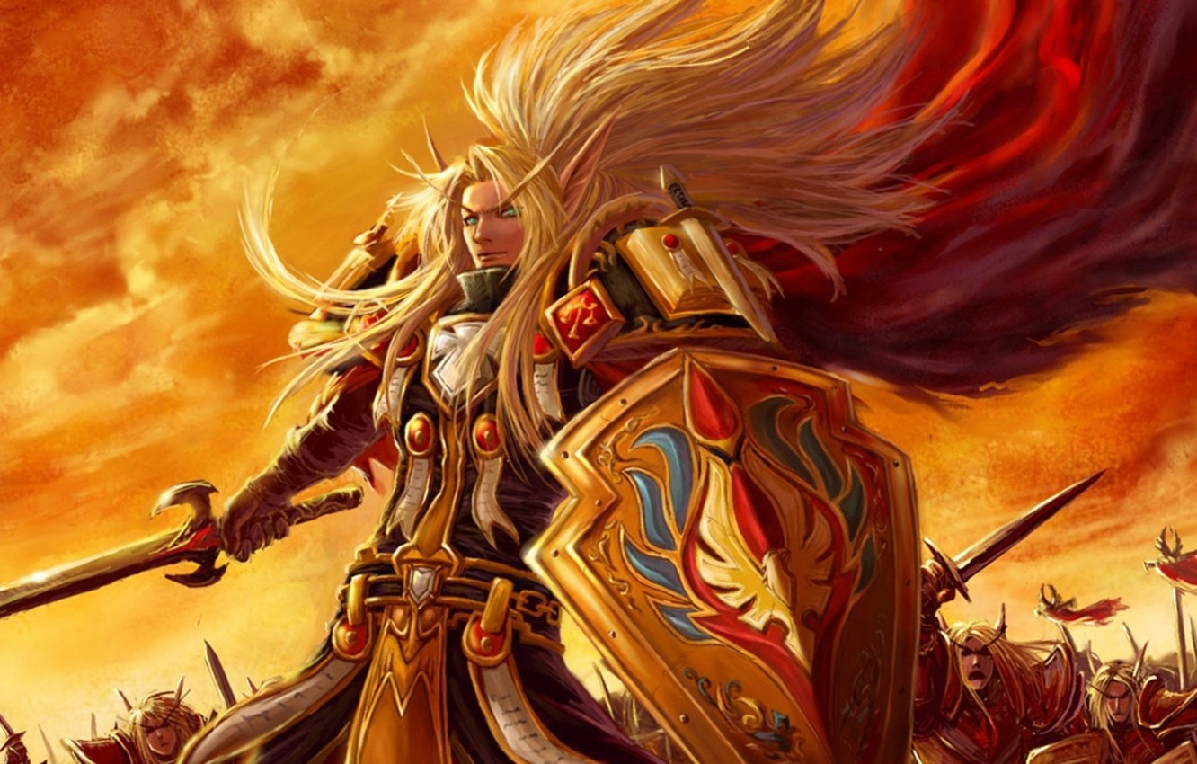 Wallpaper Army Light Warriors Wow Paladin World Of Warcraft