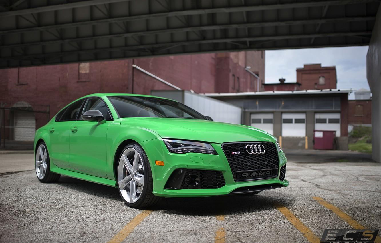Photo wallpaper Audi, green, RS7, ECS, Tuning's