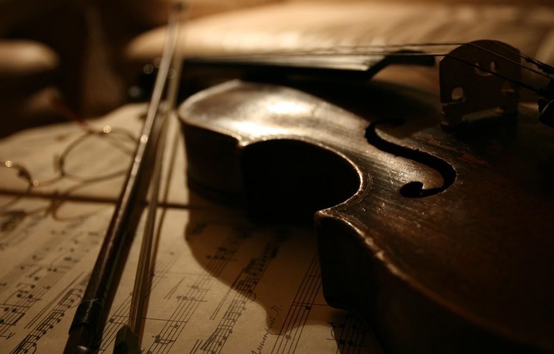 Photo wallpaper notes, music, violin