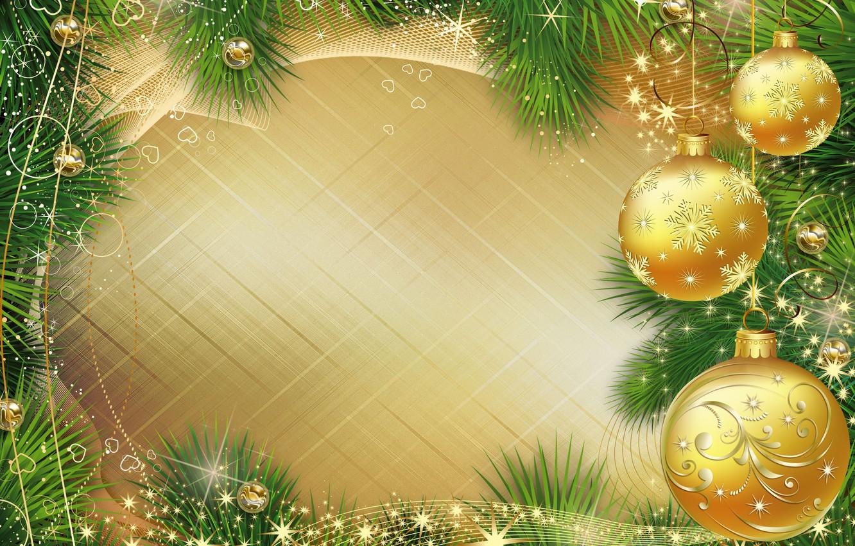 Photo wallpaper balls, branches, balls, graphics, Shine, Christmas, New year