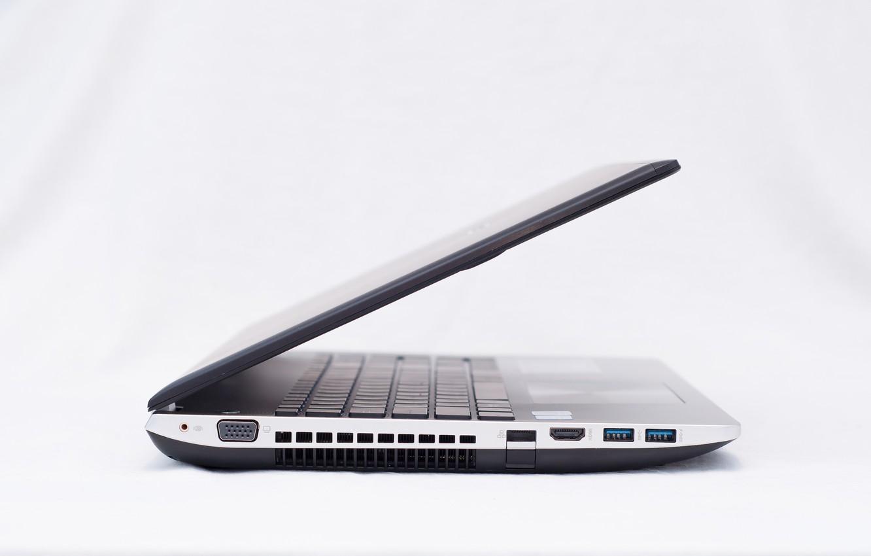 Photo wallpaper silver, white, side, black, usb, asus, N Series, keys, laptop, Yelunin Roman, hdmi, touchpad, holes, …