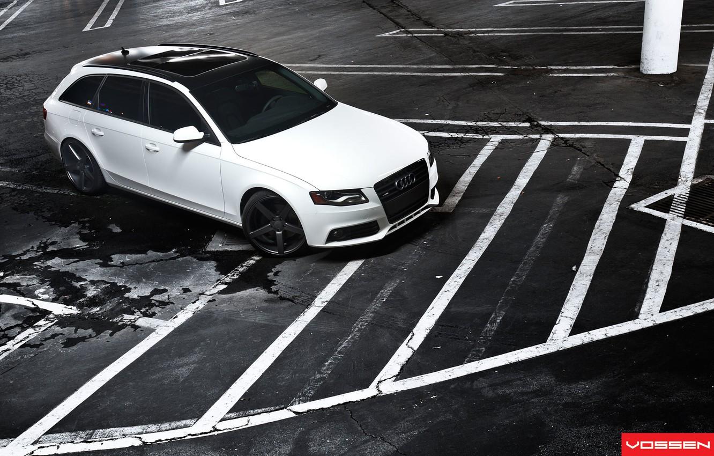Photo wallpaper Audi, White, Vossen, A4/S4