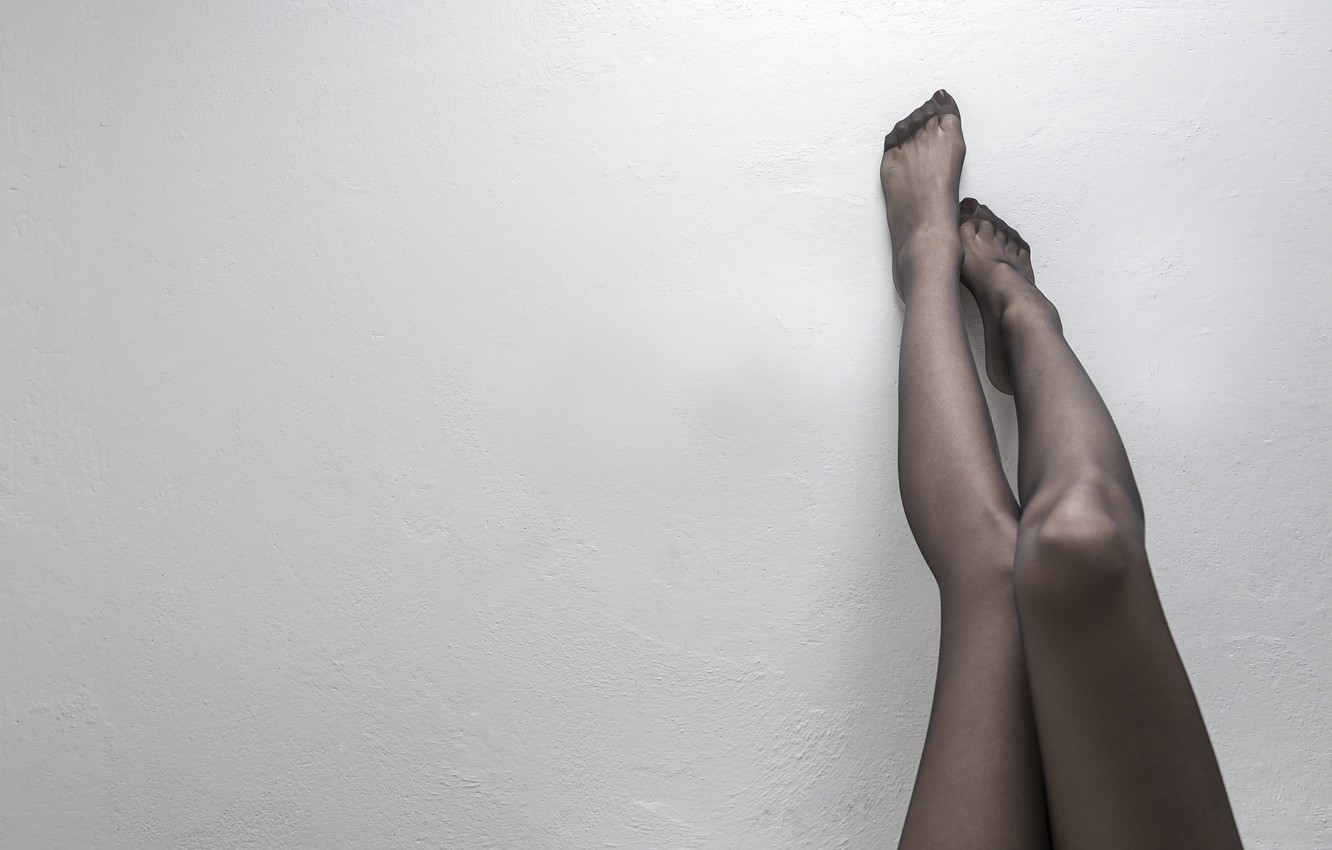 Photo wallpaper background, wall, stockings, legs