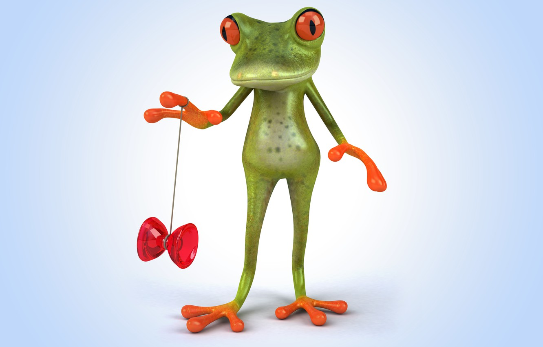 Photo wallpaper frog, frog, cartoon, funny