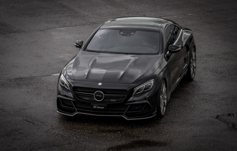 Photo wallpaper coupe, Mercedes-Benz, Mercedes, Coupe, S-Class, FAB Design, 2015, C217