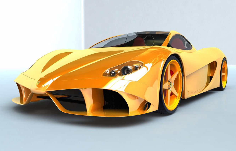 Photo wallpaper Yellow, Spider, Aurea, Ferrari 148