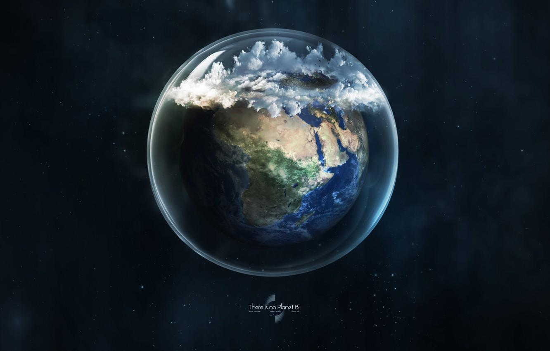 Photo wallpaper glass, earth, planet, ball