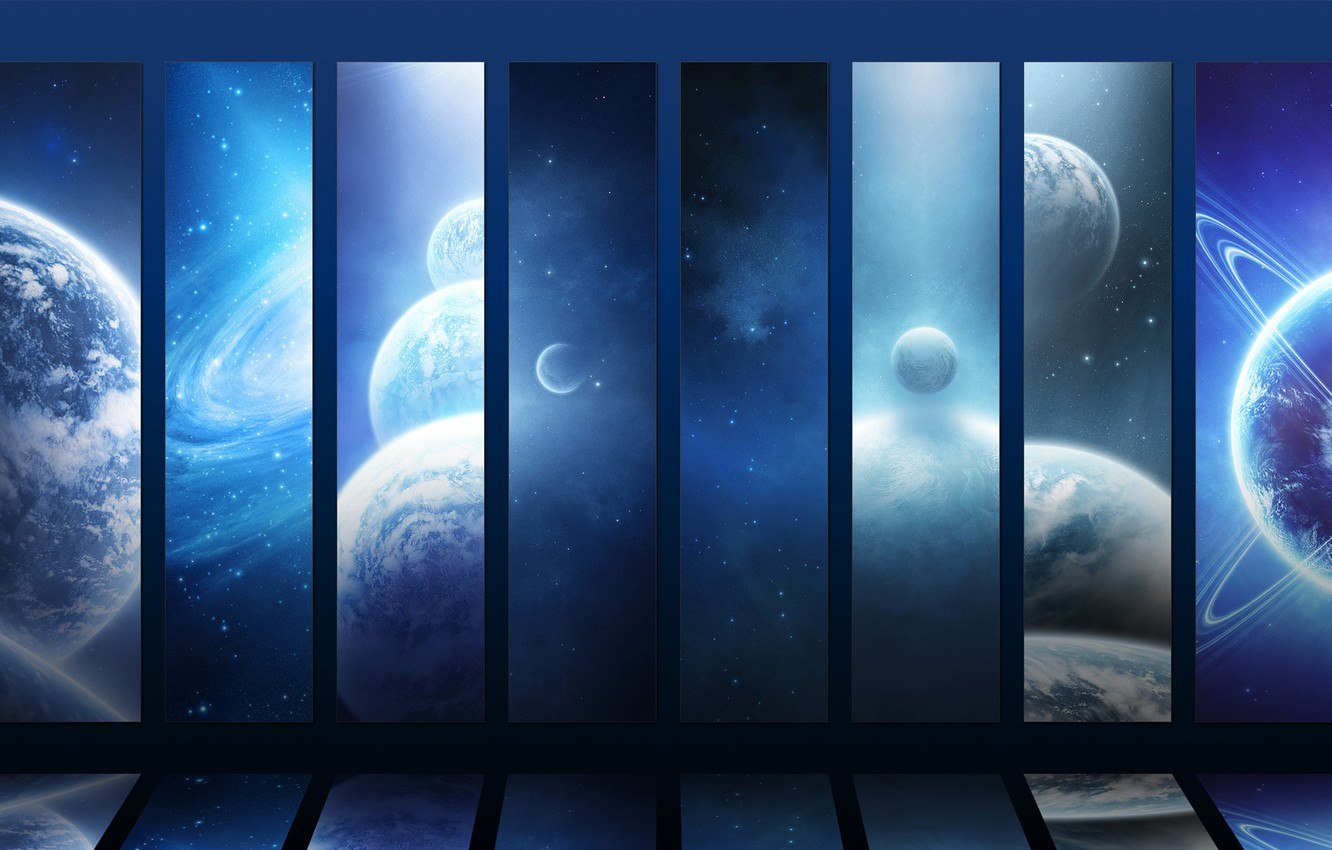 Photo wallpaper stars, planet, stars, galaxy, planets, galaxies, the vastness of the universe