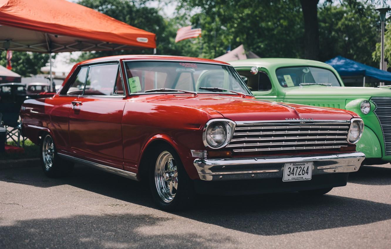 Photo wallpaper retro, Chevrolet, car, classic, Chevy
