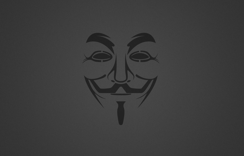 Photo wallpaper Minimalism, Background, Mask, Anonymous, Anonymous, Guy Fawkes, Granular