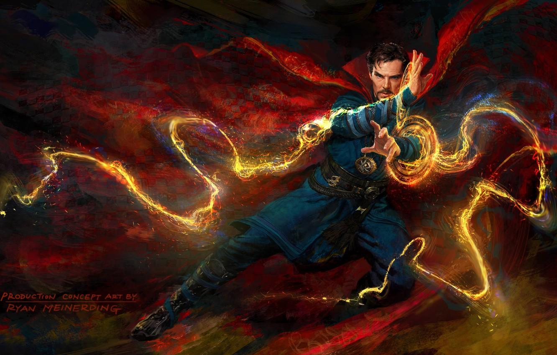 Photo wallpaper magic, magic, figure, fantasy, art, Benedict Cumberbatch, Benedict Cumberbatch, Doctor Strange, Doctor Strange