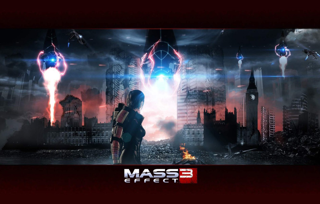 Photo wallpaper London, mass effect, Shepard, the reapers