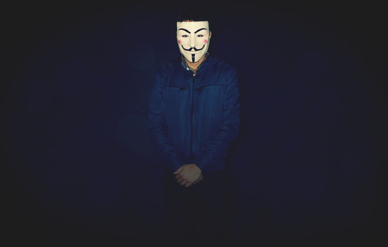 Wallpaper Mask Boy Situations V For Vendetta Revenge Blue
