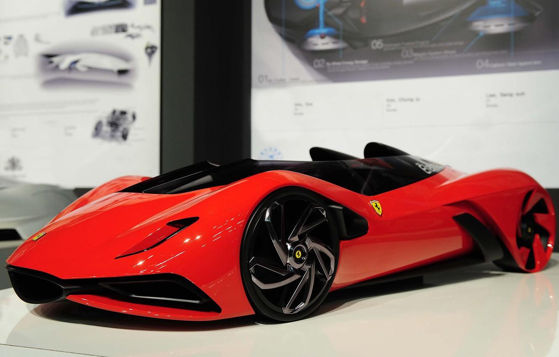Photo wallpaper model, Ferrari, Eternita, Ferrari World Design Contest