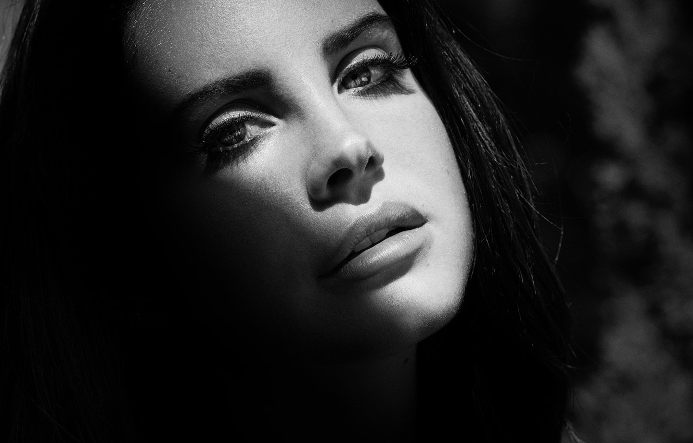 Wallpaper Girl Face Black And White Singer Lana Del Rey Lana