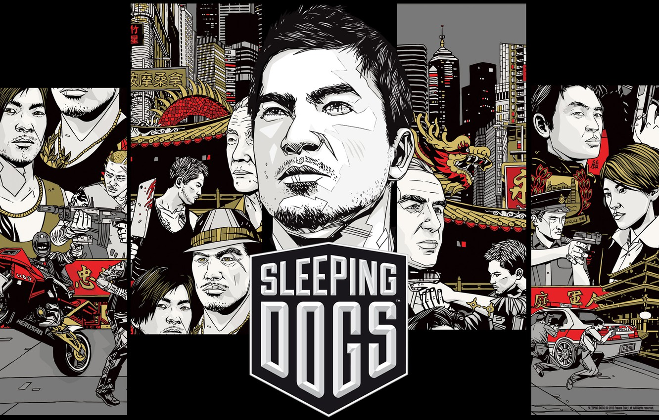 Photo wallpaper Action, Square Enix, saver, games, Sleeping Dogs