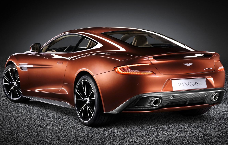 Photo wallpaper background, Aston Martin, supercar, rear view, Aston Martin, beautiful car, AM 310, Vanquish, Vanquish