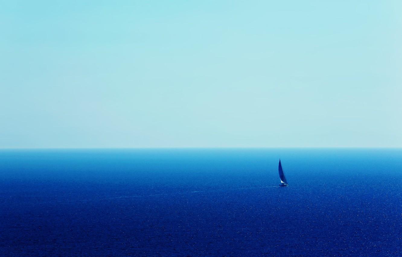 Photo wallpaper the way, the ocean, sail, yacht, the vastness, blue ocean