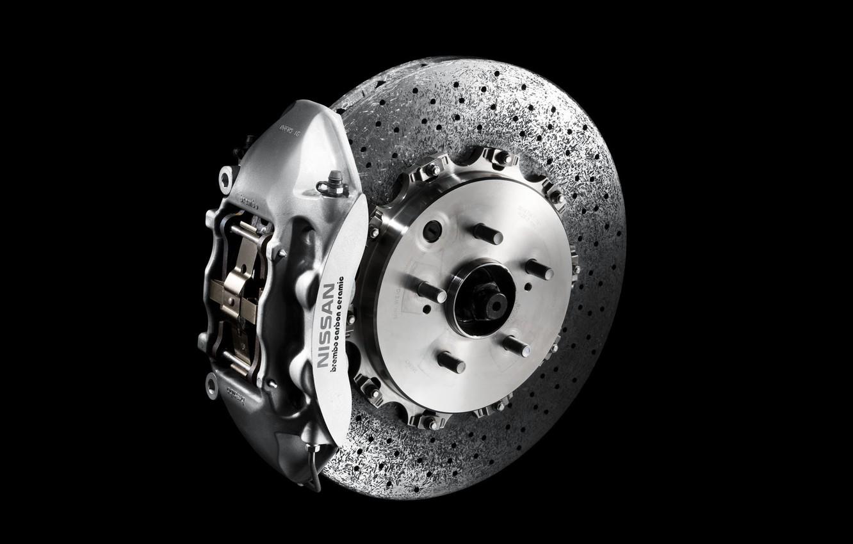 Photo wallpaper nissan, disk, Nissan, gtr, caliper