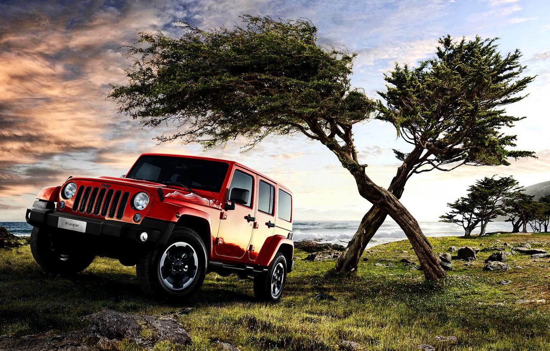 Photo wallpaper jeep, Wrangler, Jeep, Unlimited, 2015, EU-spec
