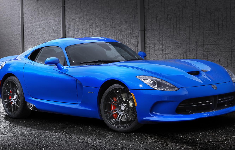 Photo wallpaper blue, sports car, srt, viper, Dodge, Viper, dodge, gts
