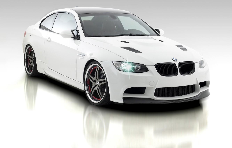 Photo wallpaper car, machine, auto, white, BMW, white, auto