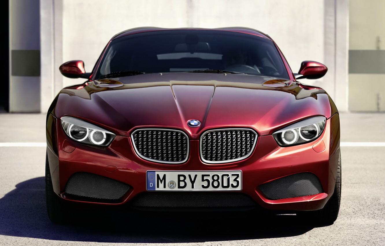 Photo wallpaper red, lights, coupe, BMW, BMW, Coupe, the front, Zagato, Zagato