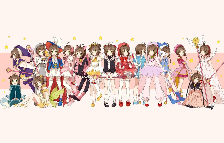 Photo wallpaper card, clothing, Sakura, poses, Cardcaptor Sakura