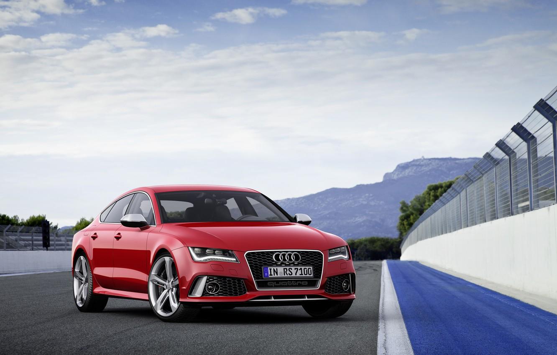 Photo wallpaper Audi, track, RS7
