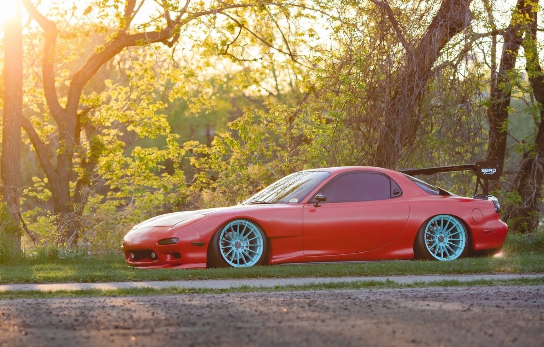 Photo wallpaper Mazda, Red, RX-7