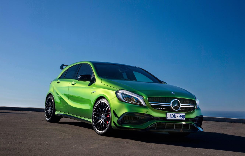 Photo wallpaper green, Mercedes-Benz, Mercedes, AMG, AMG, A-class, W176