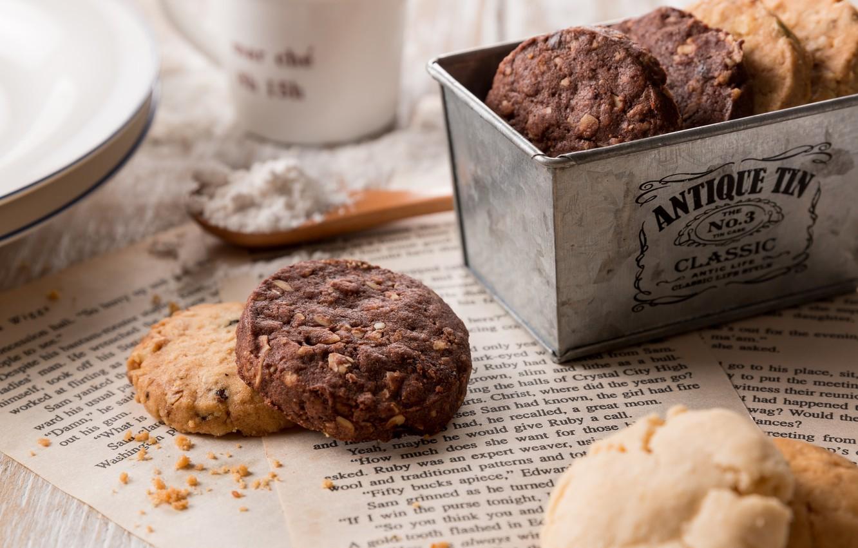 Photo wallpaper box, cookies, cakes