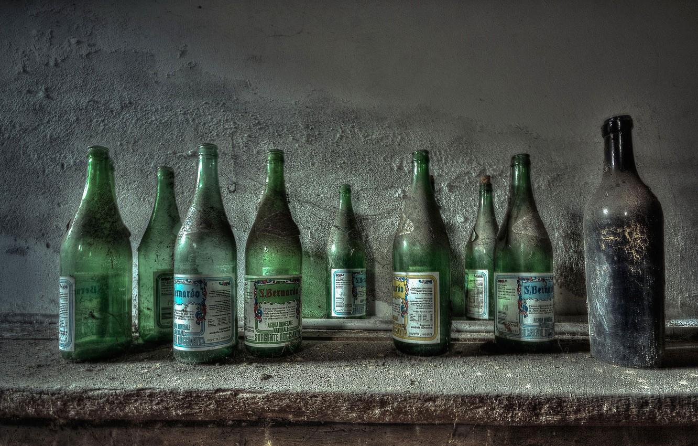 Photo wallpaper background, wall, bottle