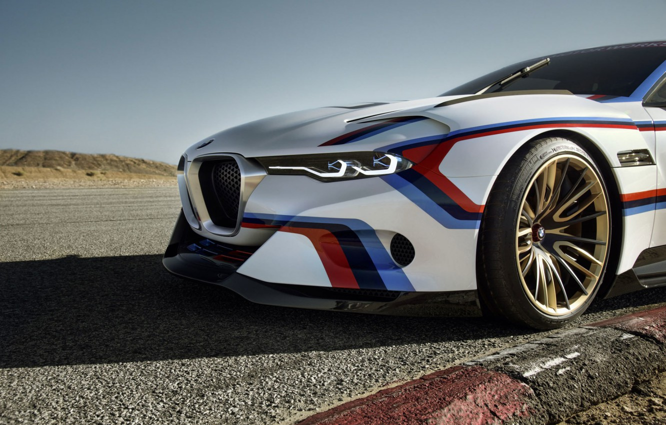 Photo wallpaper Concept, BMW, Wheel, BMW, Hommage, 3.0, The front, CSL, The curb