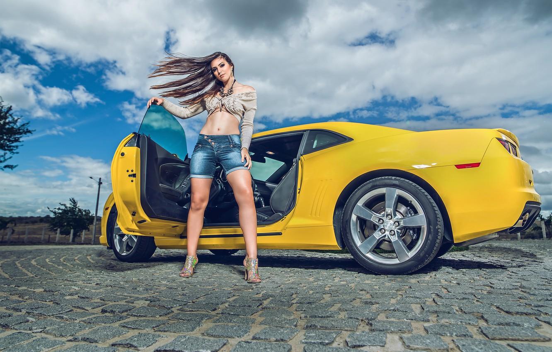 Photo wallpaper shorts, Chevrolet, Camaro, Chevrolet Camaro, Helena De Castro Rios