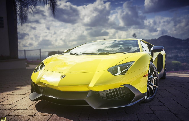 Photo wallpaper supercar, rechange, Lamborghini aventador