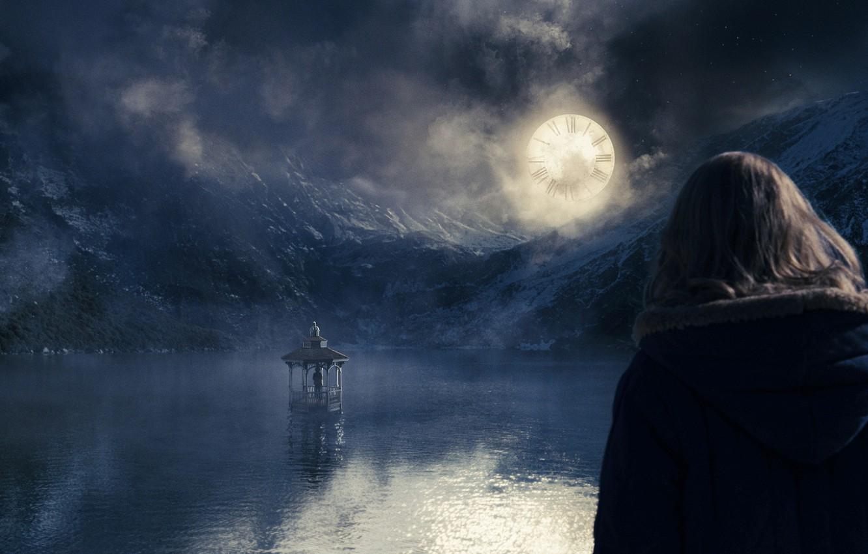 Photo wallpaper movie, the moon, watch, sleep, gazebo, the lovely bones