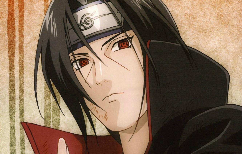 Wallpaper Portrait Headband Naruto Red Eyes Sharingan Akatsuki Itachi Uchiha Images For Desktop Section Syonen Download