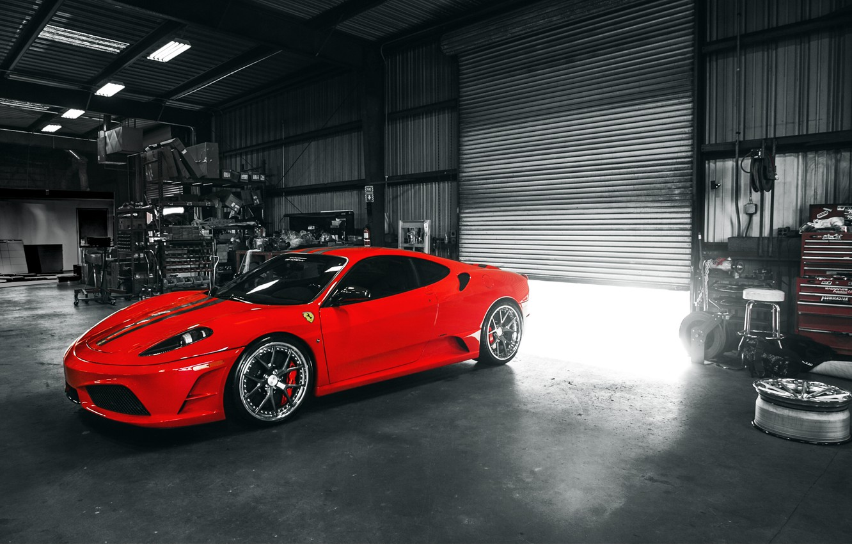 Photo wallpaper red, F430, Ferrari, red, sports car, Ferrari, Italy, Scuderia