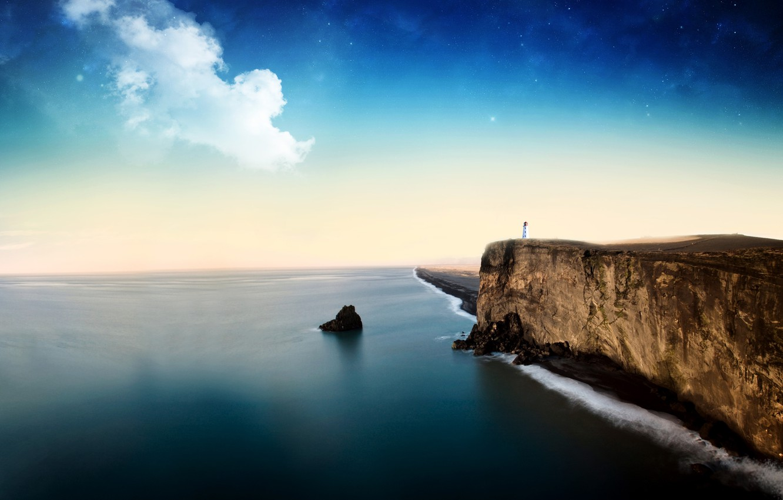 Photo wallpaper sea, the sky, rocks, landscapes