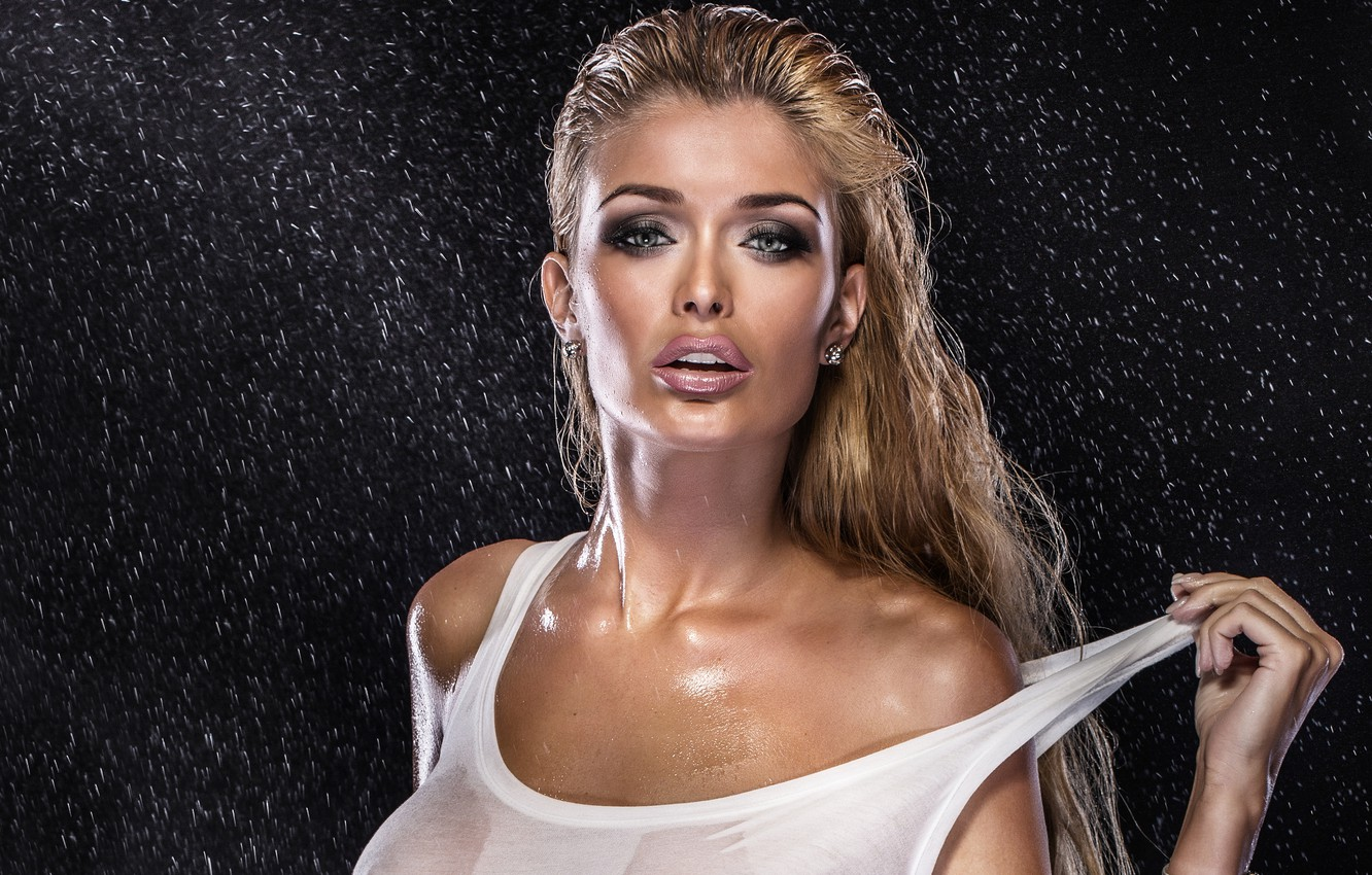 Photo wallpaper squirt, model, makeup, Mike, Jacqueline To Take