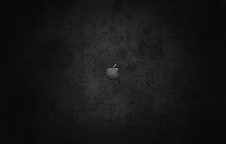 Photo wallpaper Apple, Apple, Black, Brand