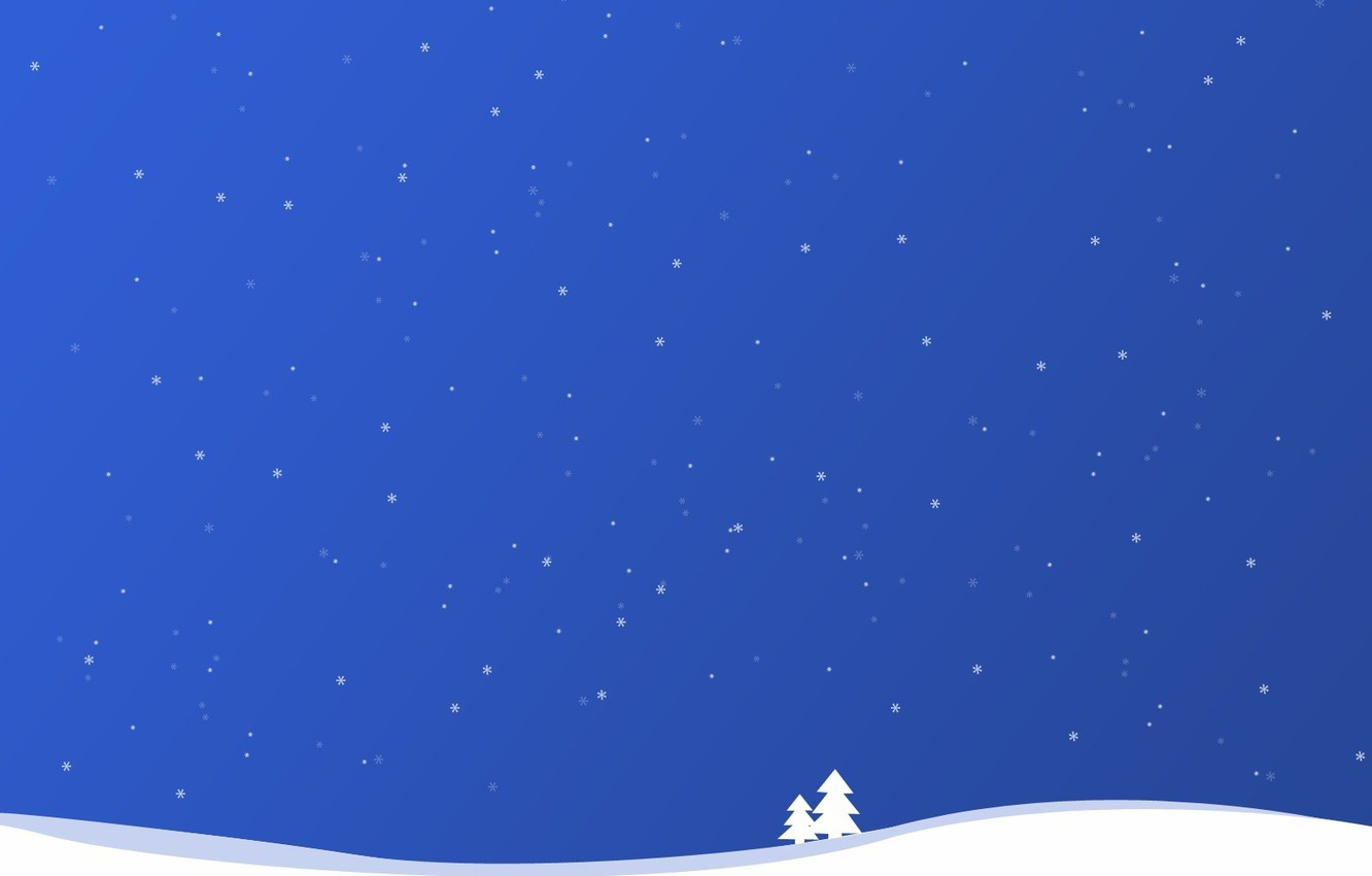 Photo wallpaper winter, snow, simple, line, easy, snowflakes