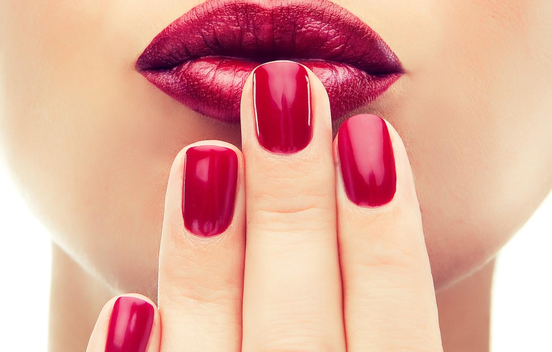 Photo wallpaper hands, nail, nails, fingers, mouth, makeup