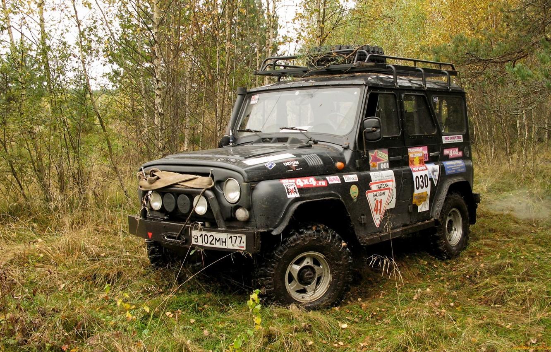 Photo wallpaper jeep, SUV, UAZ, UAZ